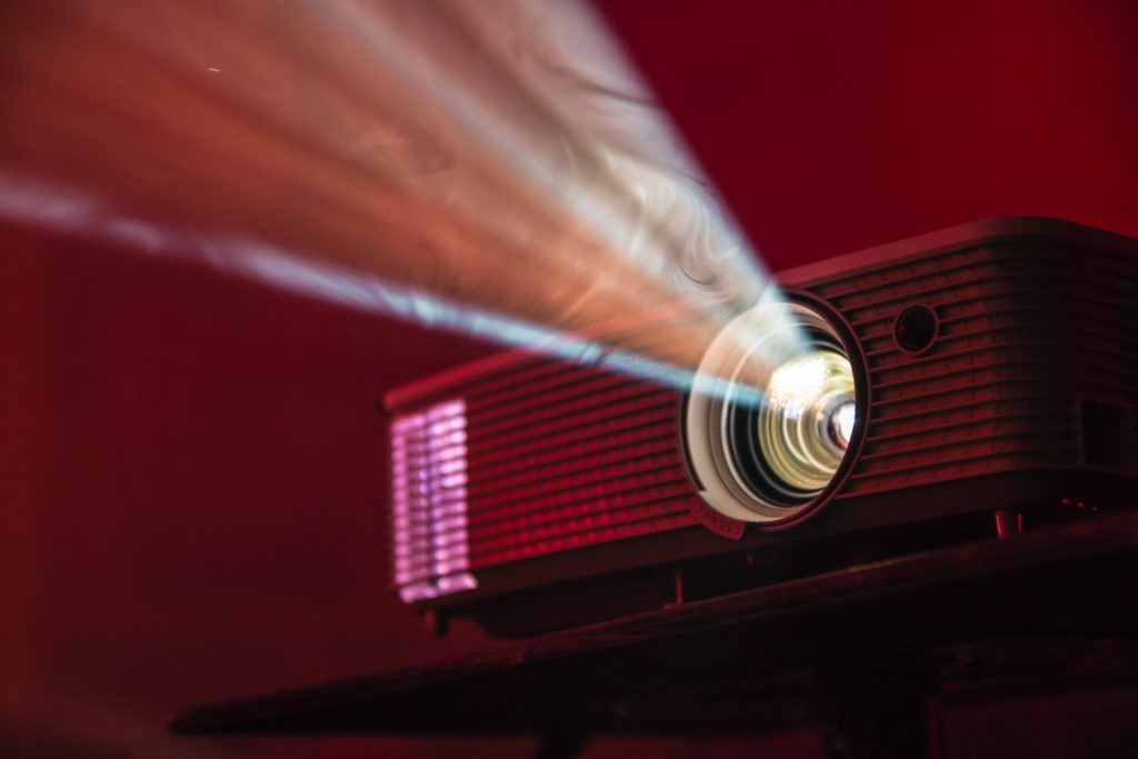 Projectors have been used in films for years