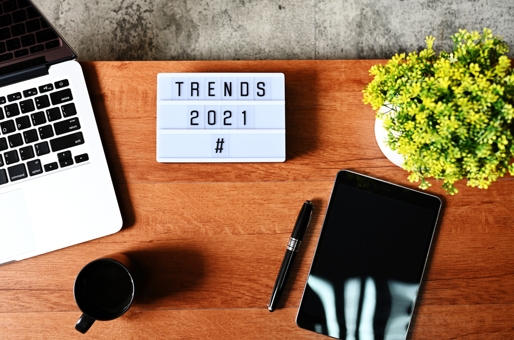 Trends 2021 on a desk